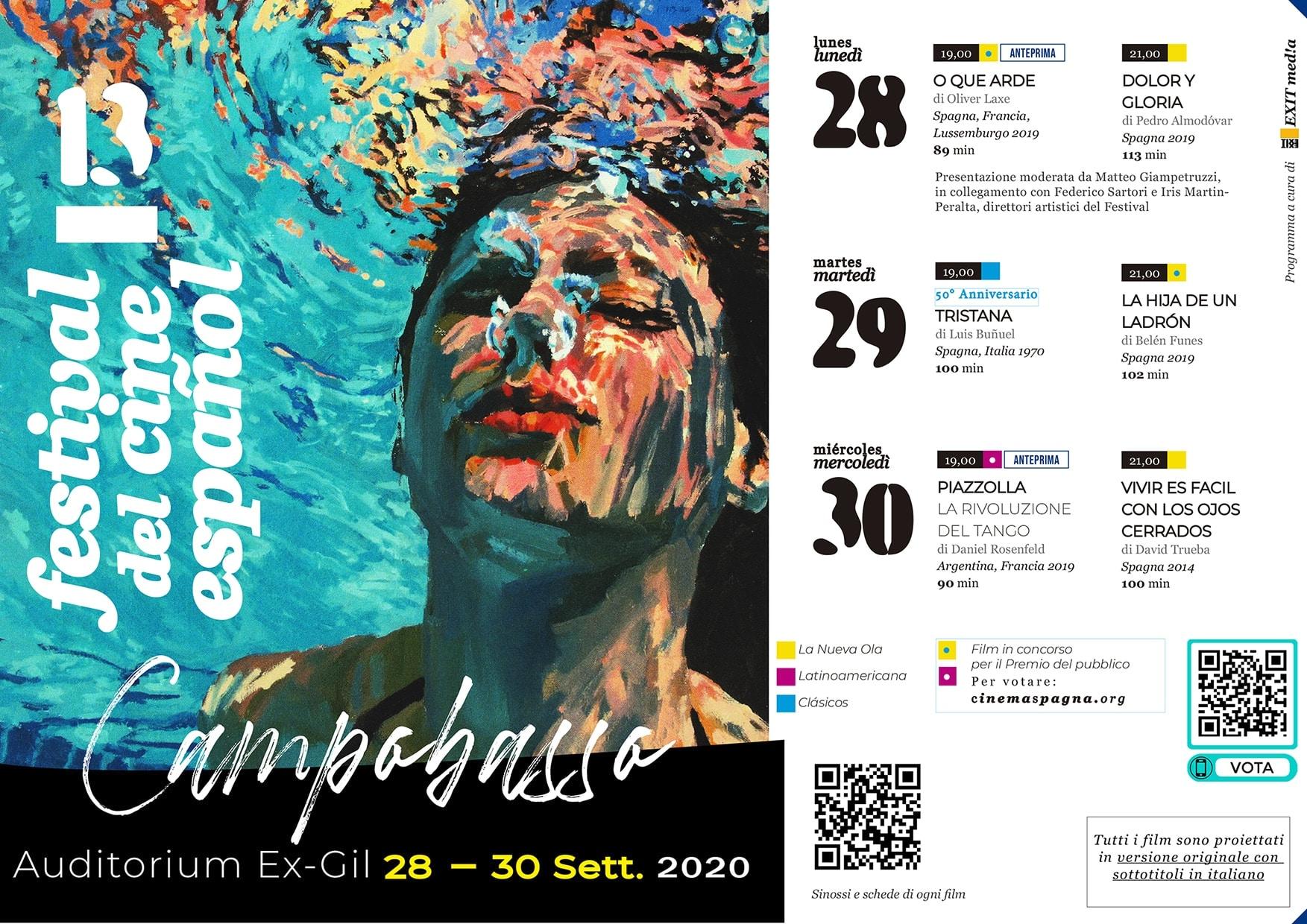 Il Programma di CinemaSpagna a Campobasso / 2020