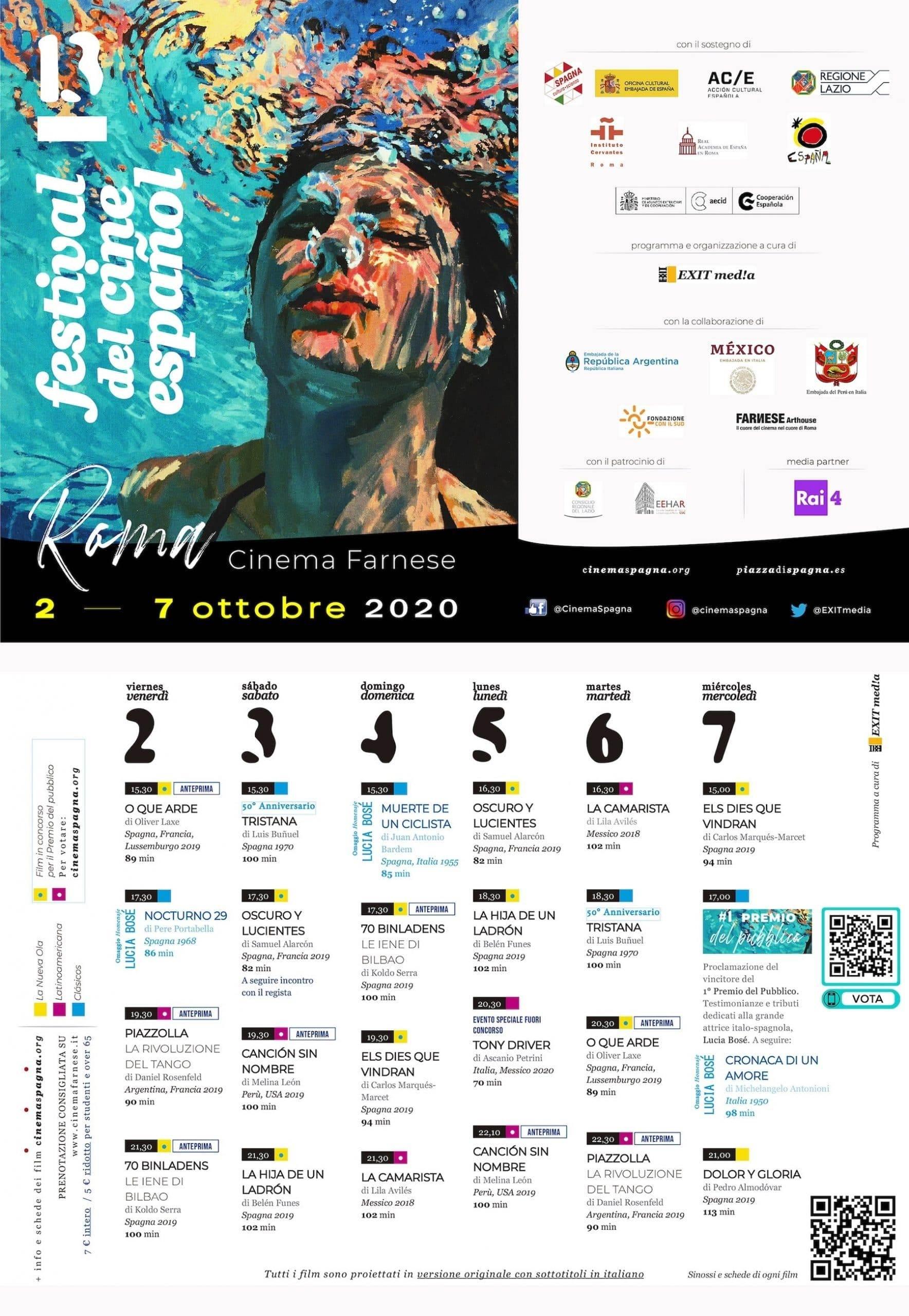 Il Programma di CinemaSpagna a Roma / 2020