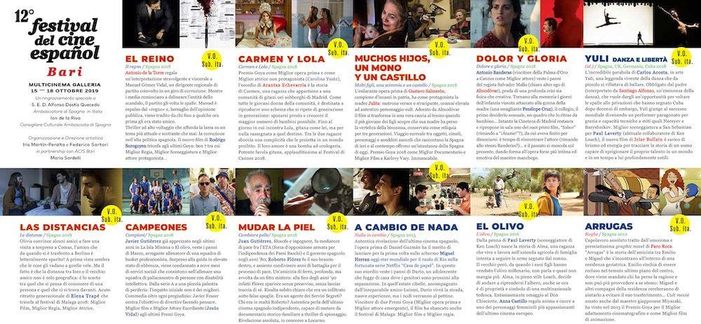 Il Programma di CinemaSpagna a Bari / 2019