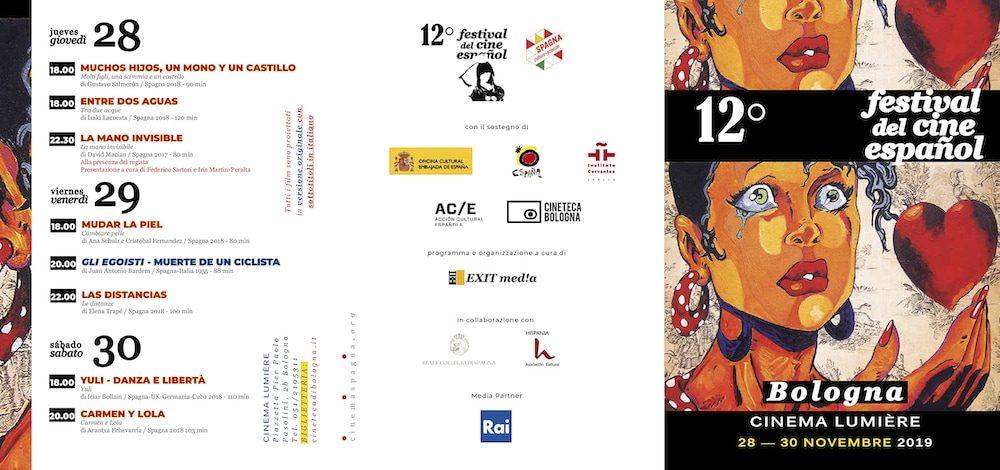 Il Programma di CinemaSpagna a Bologna / 2019