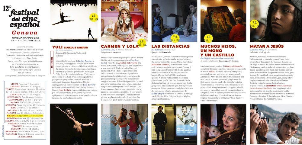Il Programma di CinemaSpagna a Genova / 2019