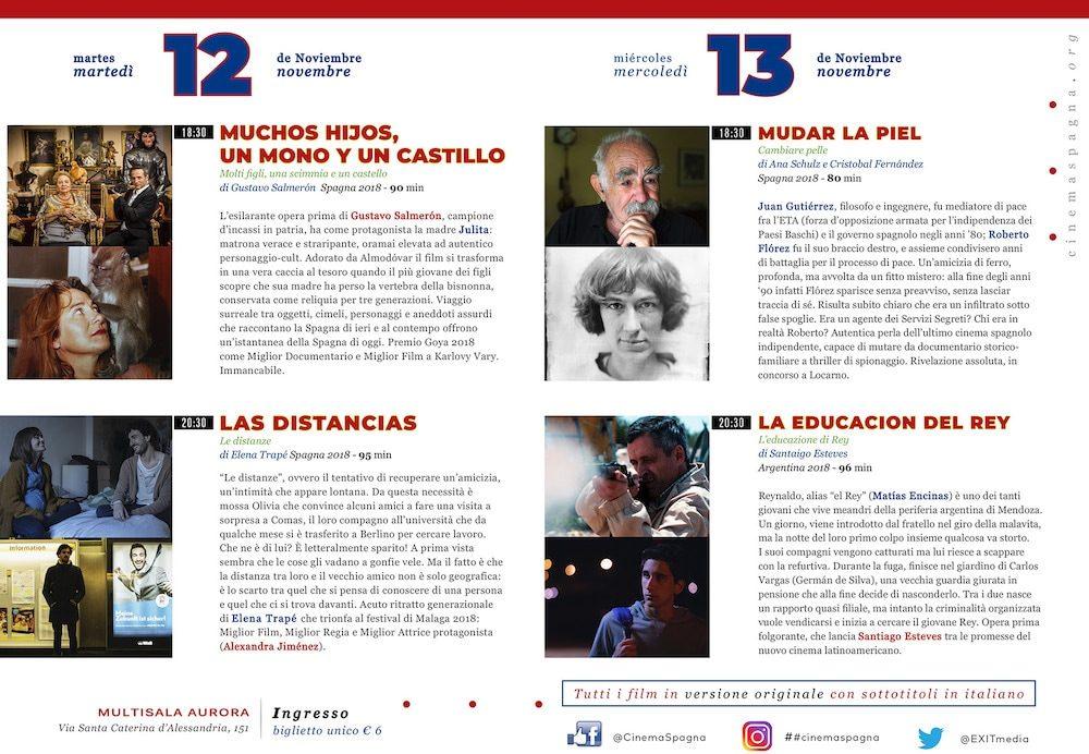 Il Programma di CinemaSpagna a Reggio Calabria / 2019