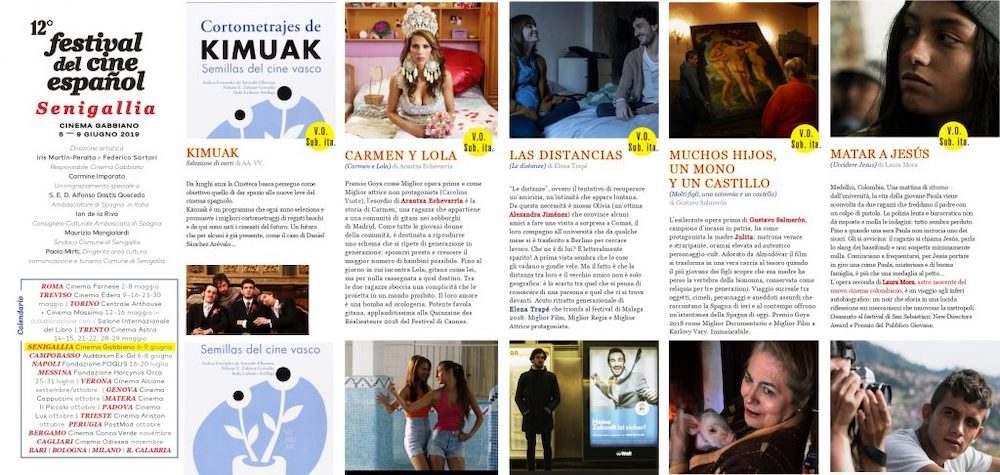 Il Programma di CinemaSpagna a Senigallia / 2019